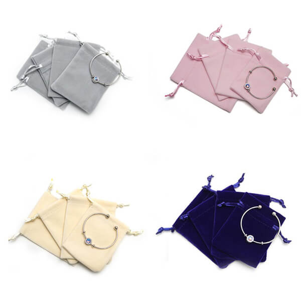 Custom Suede Drawstring Bags