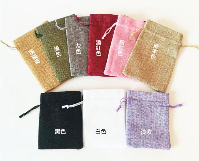 custom imitation hessian pouches