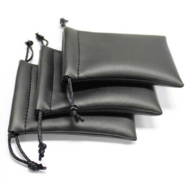 leather drawstring pouch wholesale