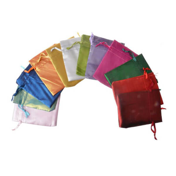 satin drawstring pouch bags