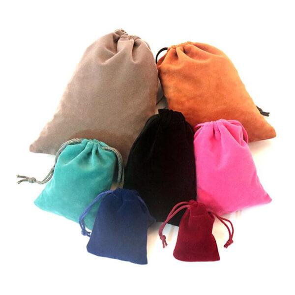 velour drawstring pouch