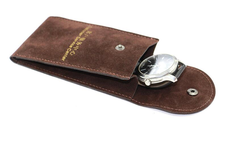 quality watch pouch with button