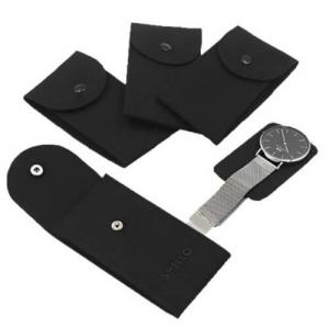 black velvet watch pouch