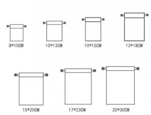 jute drawstring pouch size chart