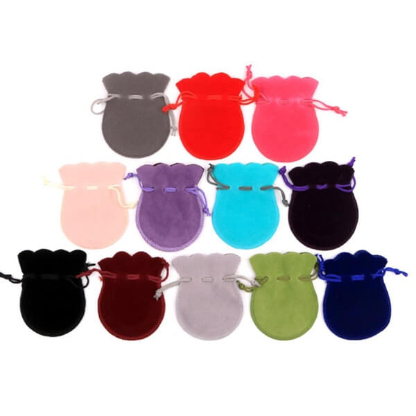 Suede Bell Pouches for Jewelry