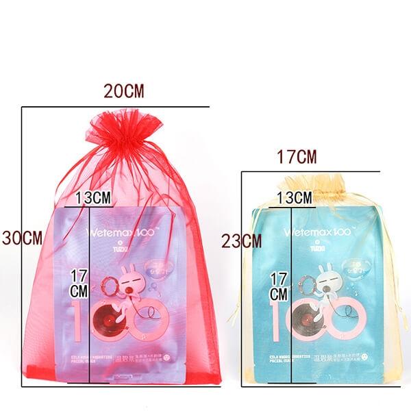 organza drawstring pouch