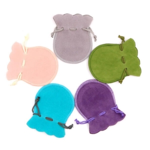 bell suede drawsting pouches