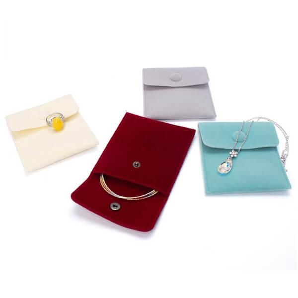 velvet envelope jewelry pouch