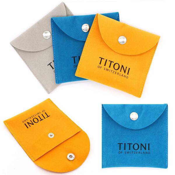 suede envelope bag with logo