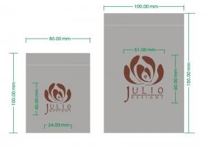 satin pouch design artwork
