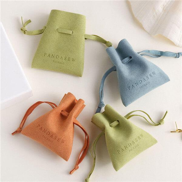 Microfiber drawstring bag